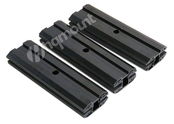 black thin film mid clamps & end clamps